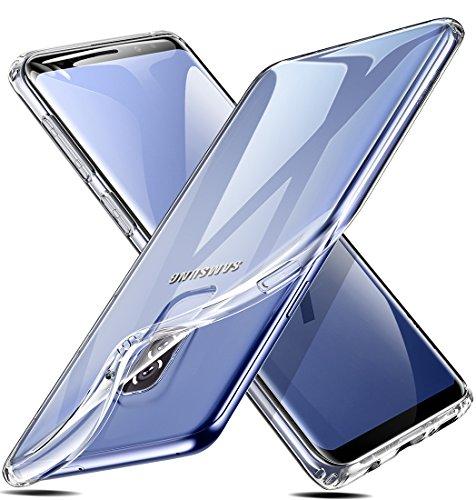ESR Cover per Samsung Galaxy S9 Plus [Supporta la Ricarica Wireless], Custodia Trasparente Morbida TPU [Ultra Leggere e Chiaro] Silicone Ultra Sottile Case per Samsung Galaxy S9 Plus (Trasparente).