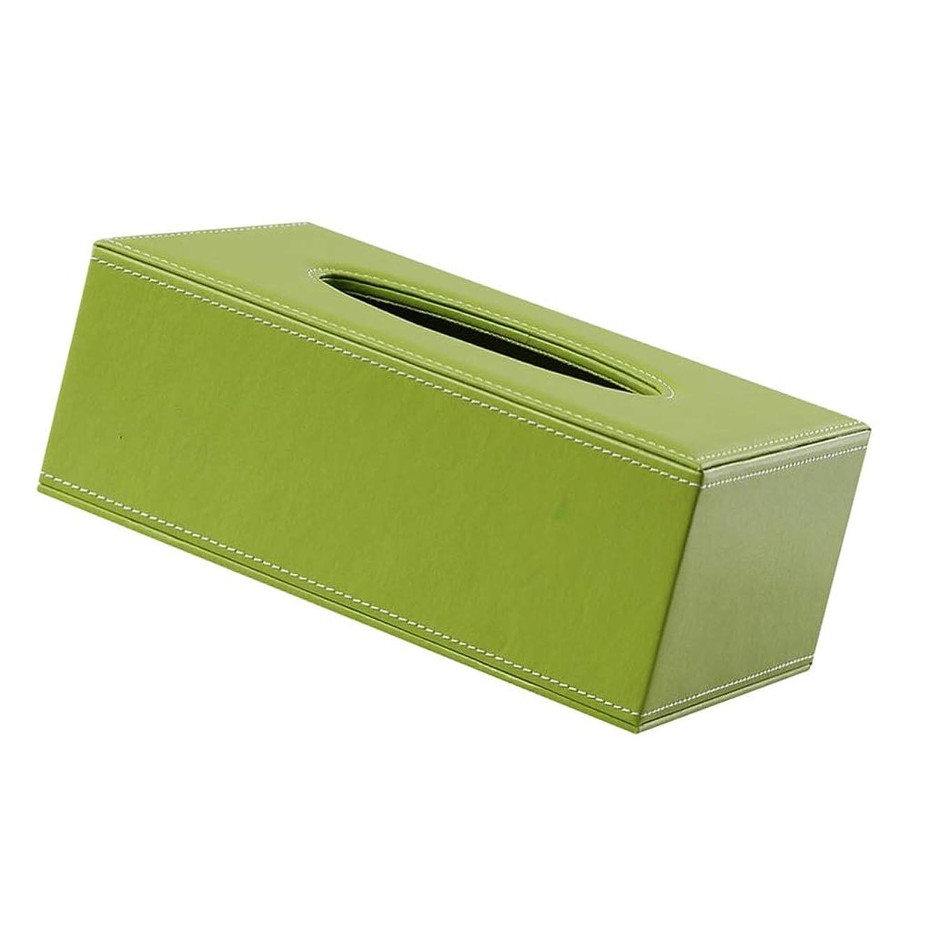 前件ギャング風邪をひくティッシュボックス キッチンバスルームラックナプキンボックスティッシュケースグリーンレザーディスペンサースタイリッシュなホームデコレーション