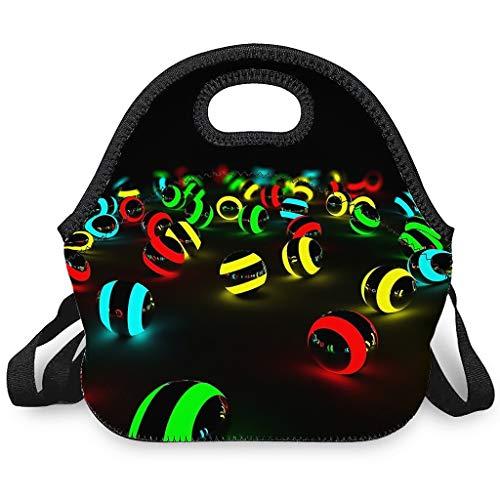 Bolsa isotérmica para el almuerzo, bolsa de almuerzo con cremallera, bolsa para el almuerzo, bolsa de pícnic, bolsa de almacenamiento adecuada para oficinas y escuelas, color blanco, talla única
