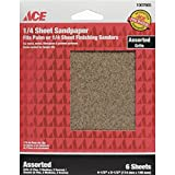 'ACE' 1/4 SHEET SAND PAPER [CASE OF 10]