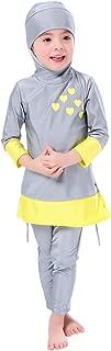 Mu Swimsuits For Girls Kids Islamic Burkini Full Cover Hijab Top Pants Swim Costume Bathing Suit