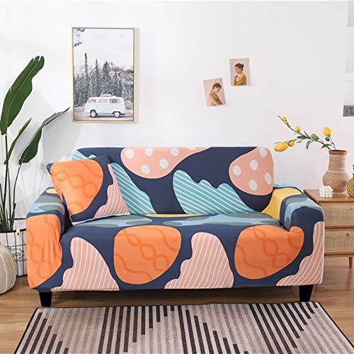 ASCV Funda de sofá elástica con patrón geométrico Fundas de sofá Todo Incluido elásticas para Sala de Estar Funda de sofá Fundas de sofá A2 1 Plaza