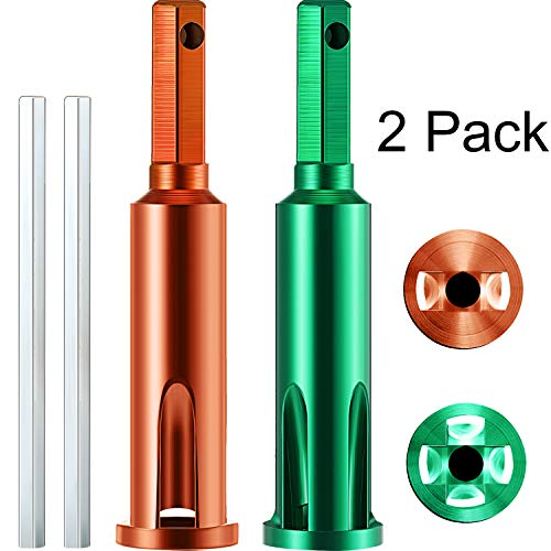 2 Pieces Wire Twisting Tools, Wire Stripper and Twister, Wire Terminals Power Tools for Stripping and Twisting Wire Cable, both Manual and Electric (Green and Orange)