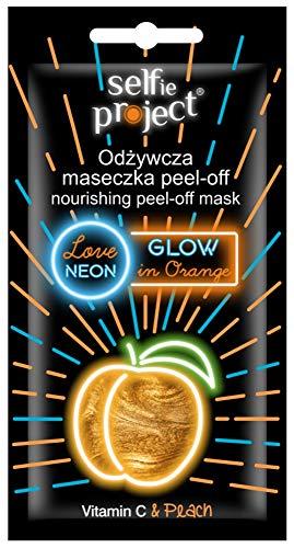 Selfie Project Nourishing Neon PeelOff Maske, GlowInOrange, 10 ml