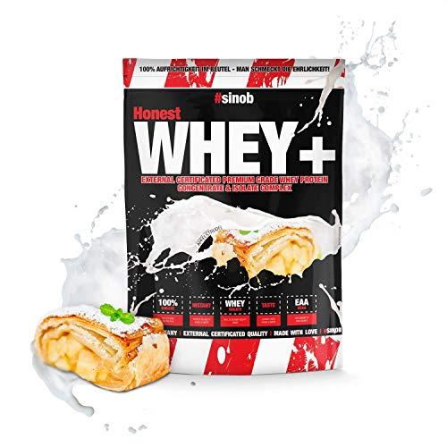 sinob Honest Whey Protein (Heisse Milch mit Honig). Premium Molkenprotein Mit BCAA & EAA. Proteinshake Für Muskelaufbau, Fitness, Kraftsport, Bodybuilding. 1 x 1000 g