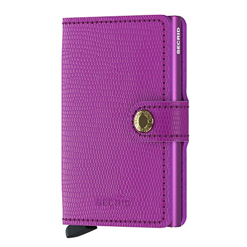 SECRID - Secrid Mini wallet Genuine Rango Leather RFID Safe Card Case for max 12 cards (Rango Violet-Violet)