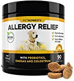 GIVE YOUR DOG ALLERGY RELIEF - PetHonesty's Allergy Relief and Immunity Chews use the power of all-natural ingredients to address internal and external symptoms to alleviate your dog's seasonal, skin, environmental and food allergies. IMPROVE IMMUNIT...