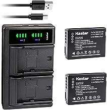 Kastar 2-Pack Battery + Charger Replacement for Panasonic DMW-BCG10 Lumix DMC-ZR1 DMC-ZR3 DMC-ZS1 DMC-ZS10 DMC-ZS15 DMC-ZS19 DMC-ZS20 ZS25 DMC-ZS3 DMC-ZS5 DMC-ZS6 DMC-ZS7 DMC-ZS8 DMC-ZX1 ZX3 DMC-3D1