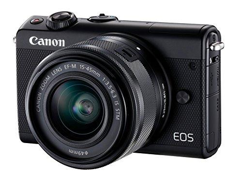 Canon EOS M100 MILC 24,2 MP CMOS 6000 x 4000 Pixeles Negro - Cámara digital (24,2 MP, 6000 x 4000 Pixeles, CMOS, Full HD, Pantalla táctil, Negro)