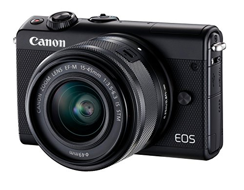 Canon EOS M100 Systeemcamera, incl. EF-M (15-45 mm + 55-200 mm) IS STM, zwart