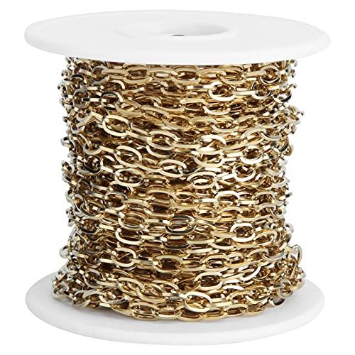 Cadena extensora de Collar, no es fácil de desvanecer No es fácil de Romper Cadenas de Acero Inoxidable Firme para Bricolaje para Collares