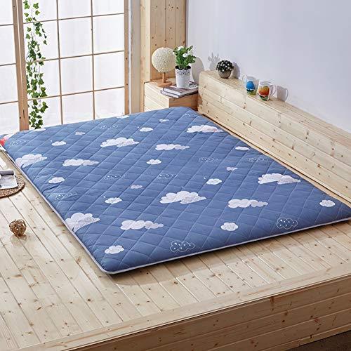 LXSHMF Traditional Japanese Quilting Futon Mattress,Thick Tatami Mattress Foldable Floor Mat Sleeping Pad Student Dormitory Mattress Pad Four Seasons Available E 180x200cm(71x79inch)
