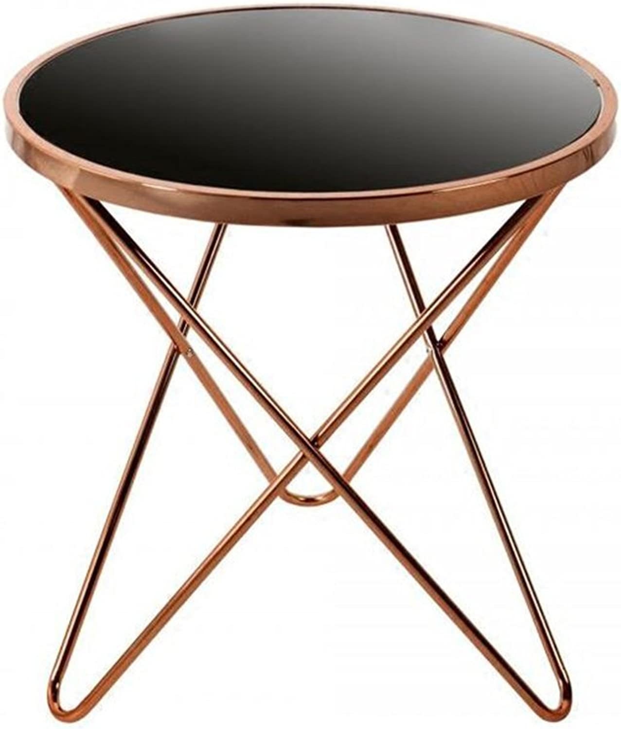 KTYXGKL Scandinavian Sofa Edge A Few Small Coffee Table Tea Table Side Table Simple Modern Iron Bedside Table Balcony Small Round Table Folding Table