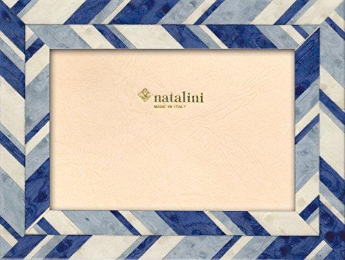 Natalini J-Louis Azzurra 13X18 Bilderrahmen mit Unterstützung für Tisch, Tulipwood, Hell-blau, 13 X 18 X 1,5