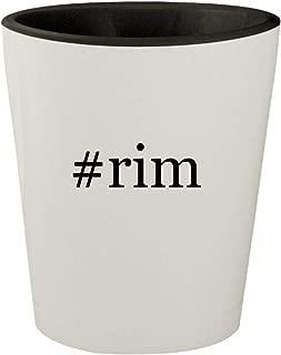 #rim - White Outer & Black Inner Hashtag Ceramic 1.5oz Shot Glass