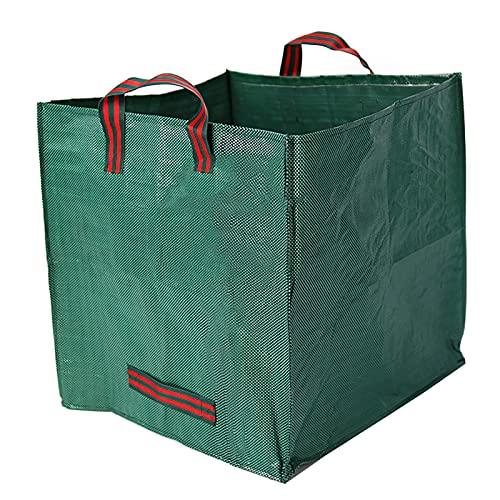 FUOBECIE Gartenlaubtasche, Kompostbeutel, schmutzabweisend, für Gartenlaub, quadratisch, praktische Müllbeutel, mit Griffen für den Garten