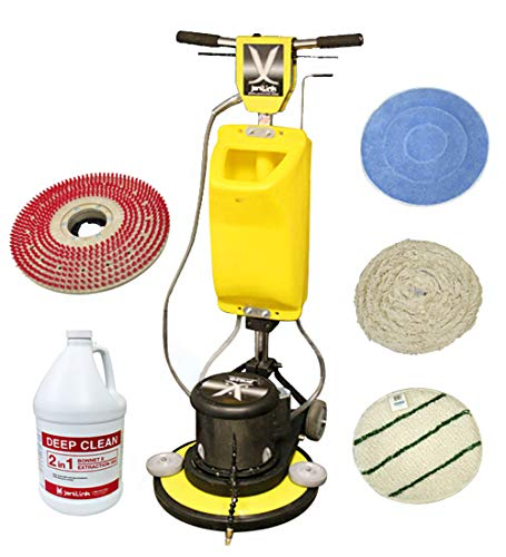 Best Price! JANILINK Premium Bonnet Buffer 17 inch KIT w/Electric AUTO Pump Sprayer