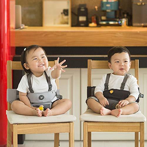 【日本正規販売店】hugpapaハグパパ2wayベビーチェアブースターチェアベルトハーネス(チャコール)