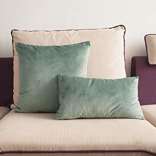 Zacht licht groen fluweel kussensloop groene kussensloop stoel/bed/bank kussensloop huis decoratieve kussen zonder vulling, 50cmx50cm