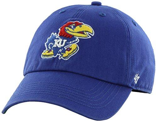 '47 NCAA Kansas Jayhawks Franchise Fitted Hat, Royal, Medium