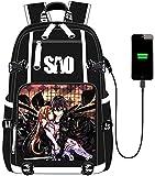 Skechup Sword Art Online Anime de Viaje Bolsa Portátil School Bag para Anime Mochila Antirrobo mpermeable juego de rol Ordenador del Trabajo Diario Viaje Backpack