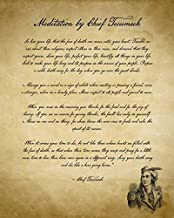 Imagekind Wall Art Print Entitled Chief Tecumseh Poem Act of Valor Movie by FineArt Classics | 36x45