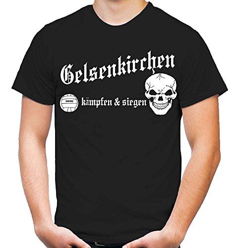 Gelsenkirchen kämpfen & Siegen T-Shirt | Fussball | Herrn | Männer | Sport | Ultras | Nordkurve | M1 (XXL)