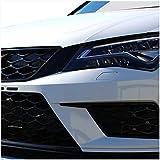 Finest Folia Juego de 2 fundas para faros intermedios de coche, decoración para coche, tuning óptico, accesorios D006