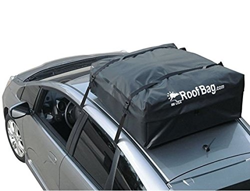 RoofBag Rooftop Cargo Carrier | Waterproof | Made in USA | 1 Year Warranty | Fits All Cars: with Side Rails, Cross Bars or No Rack