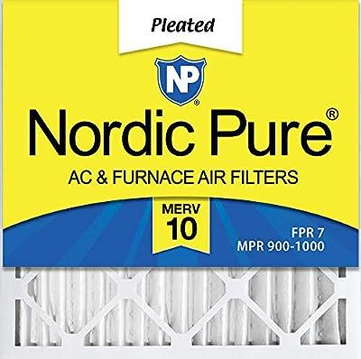 Nordic Pure 20x20x2 MERV 10 Pleated AC Furnace