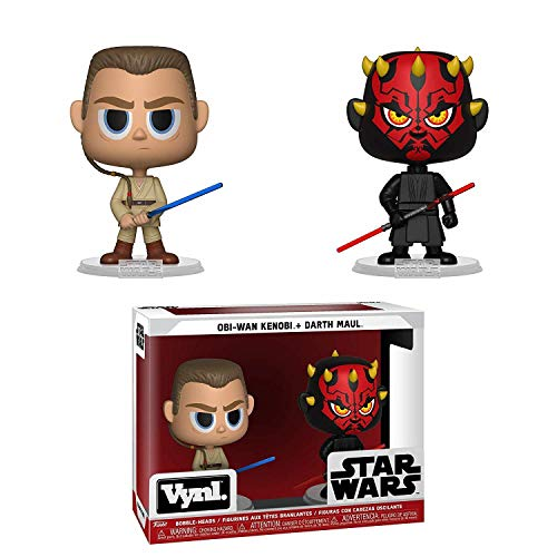 Funko 31621 VYNL 10,16 cm 2-Pack: Star Wars: Darth Maul & OBI WAN (La Amenaza Fantasma), Multi