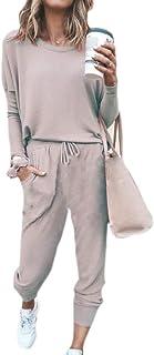 Women Gym Drawstring Sport Two pcs Set Pure Colour Lounge Activewear