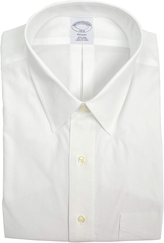 Brooks Brothers Men's Regent Fit Pocket Non Iron Dress Shirt White