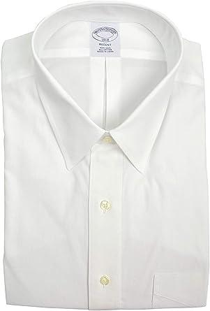 BROOKS BROTHERS Regent Fit - Camisa de Vestir para Hombre con Bolsillos, no Necesita Planchado, Color Blanco