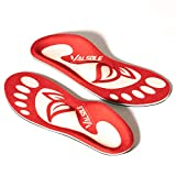 VALSOLE Plantar Fasciitis Insoles for Men and Women Arch Supports Orthotics Shoe Inserts, Relieve Flat Feet, High Arch, Foot Pain (red-107a, Mens 10-10 1/2 | Womens 12-12 1/2)