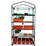 Worth Garden 102cm de ancho Invernadero de 5 niveles con cubierta de lona de PVC y cremallera 193 x 102 x 49cm HxWxD Invernadero transparente Casa de planta de tomate