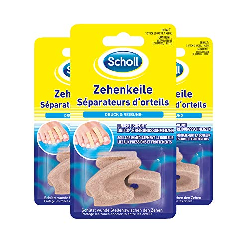Scholl Zehenkeile, 3er Pack (3 x 3 Stück)