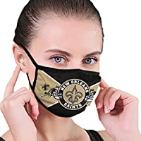 Dust Washable Reusable Filter and Reusable Mouth Warm Windproof Cotton Face (Men/Women, New Orleans Saints Helmet)