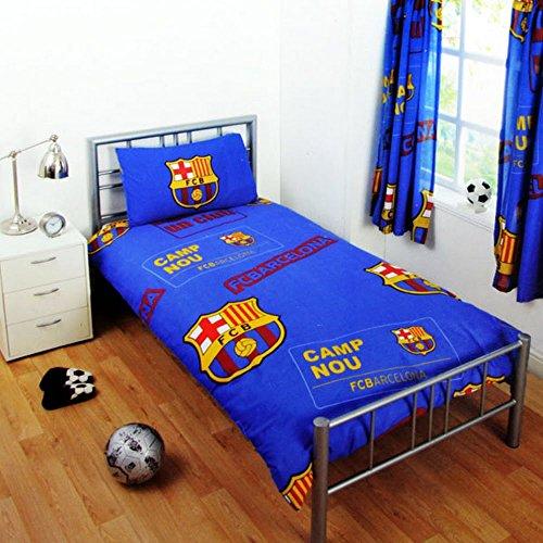 Club Licensed Barcelona Patch Single Duvet Set (Duvet 135 x 200cm) (Pillow 50 x 75cm)