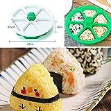 LFDHSF Accessori per la Cucina Triangolo Sushi Macchina per Fare stampi, Mini Fai da Te Triangolo Stampo Strumento Fai da Te, Cucina Sushi Antiaderente Palle di Riso con alghe