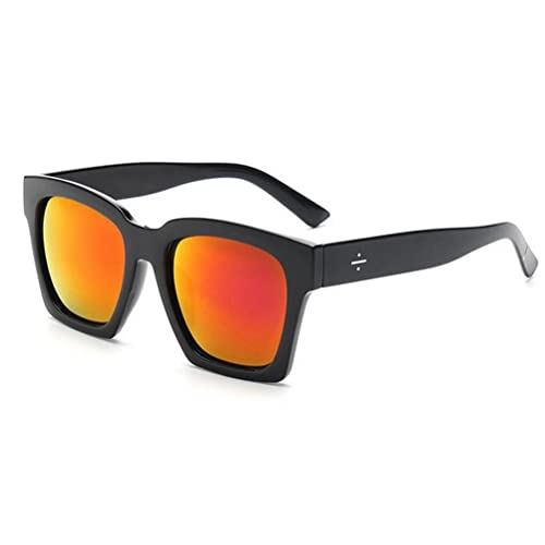 91ba66165 GAMT Sunglasses Tide Retro Trapezoid Frame Sun Glasses Fashion Eyewear  Black Frame Red Lens