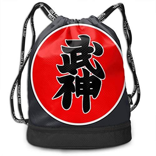 Rucksäcke,Sporttaschen,Turnbeutel,Daypacks, Crazy Bujinkan 3D Drawstring Bag Sport Gym Travel Bundle Backpack Pack Beam Mouth Shoulder Bags