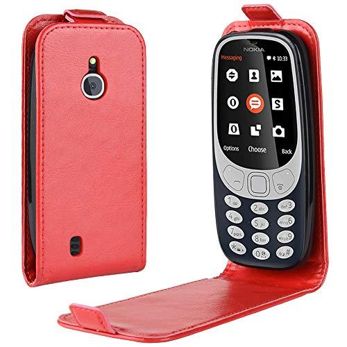 Oujiet-eu CN Custodia per Nokia 3310 3G 4G Custodia Flip in Pelle PU + Cover Case in Silicone Fissa Protezione 1