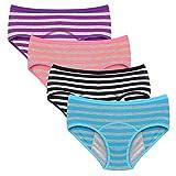 Nightaste Bragas del Período Menstrual Algodón Niña Chicas Adolescentes Micro Mesh Culottes Mujer Posparto Protección Ropa Interior(Paquete de 4) (L(Cintura:71-73.5cm), Estilo5)