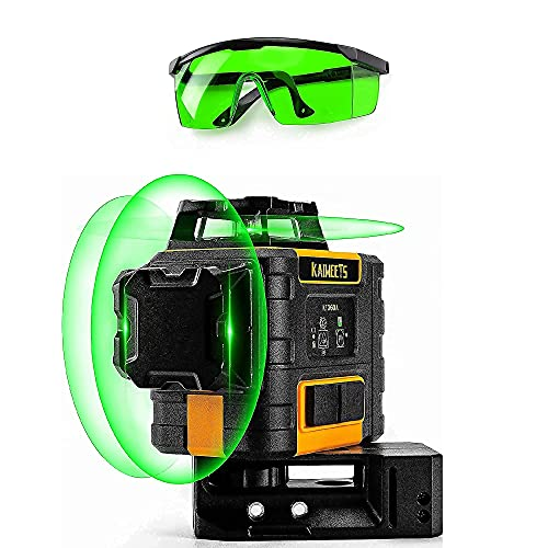KAIWEETS KT360A Level with Enhancement Glasses, 3 X 360 Green Line