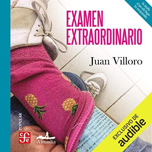 Diseño de la portada del título Examen extraordinario