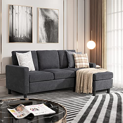 JY QAQA Convertible Sectional Sofa Couch with 3-Seat Sofa,...