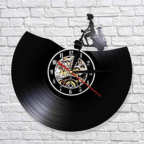 fdgdfgd Clásico Disco de CD Silencio Retro Reloj de Pared Scooter Art Deco Reloj de Pared Disco de Vinilo Reloj de Pared Decoración Moderna | Decoración única para el hogar