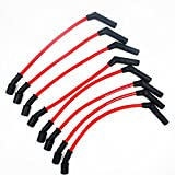 10mm LSx LS1 LS2 LS3 LS6 LS7 High Heat Spark Plug Ignition Wires Set Replacement for Chevy/GMC 19005218