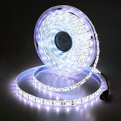JOYLIT 24V Tiras LED Iluminación Blanco 300 LEDs SMD5050, 5M IP65 Impermeable 6000-6500K Luces LED para Armario, Dormitorio, Muebles, Cocina